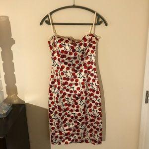 Dolce & Gabanna cherry print dress. 1996 fall